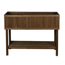 Urban garden wood marron 100x40x80 huerto